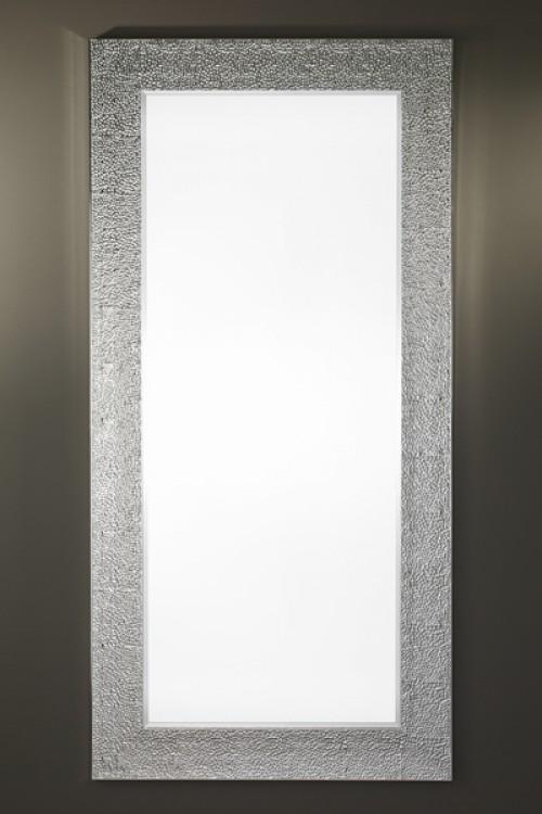 Jeancel luminaires miroir oslo argent 95x195 cm for Miroir rectangulaire argent