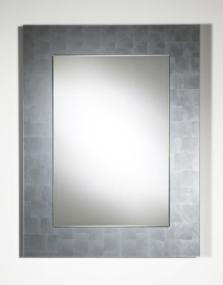 Jeancel luminaires miroir moderne basic silver 80x105 cm for Miroir moderne