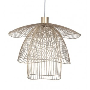 Suspension Papillon L D.100 champagne - Forestier