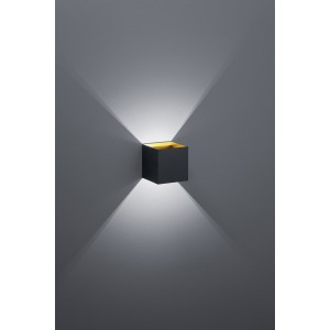 Applique murale Led Louis Noir et Or
