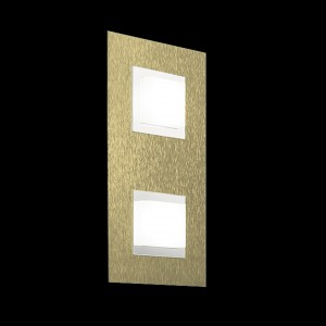 Applique/plafonnier LED Basic 2x520lm Laiton mat