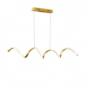Suspension LED Russel Feuille d'Or