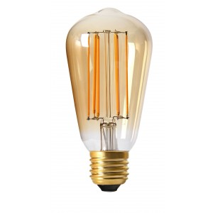 Ampoule LED Edisson filaments 4W ambrée