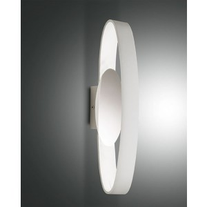 Applique murale LED Fabas Luce Gaby L.53 IP44  - Blanc