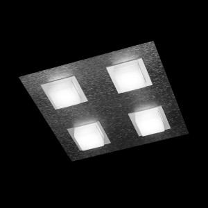 Plafonnier LED Basic 4x520lm Anthracite brossé