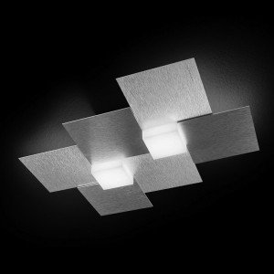 Applique/Plafonnier CREO 2 x LED - Aluminium