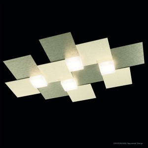 Applique/Plafonnier CREO 4 x LED - Champagne