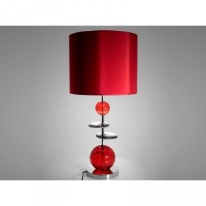 Lampe à poser Volcanique rouge et chrome
