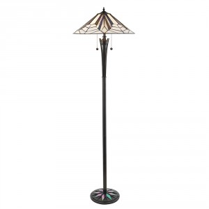 Lampadaire Tiffany Astoria 2x60W