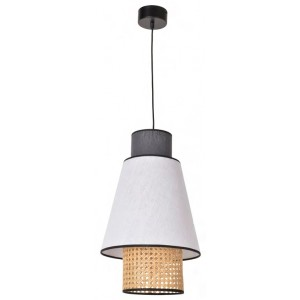 Suspension Singapour D.30 blanc et anthracite