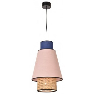 Suspension Singapour D.30 rose et indigo