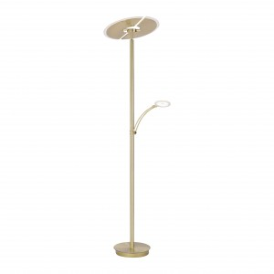 Lampadaire LED Richard laiton 4700 lm