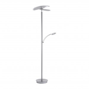 Lampadaire LED Richard nickel 4700lm