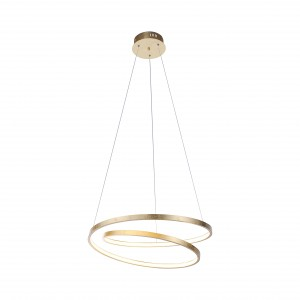 Suspension LED Roman 30W feuille d'or