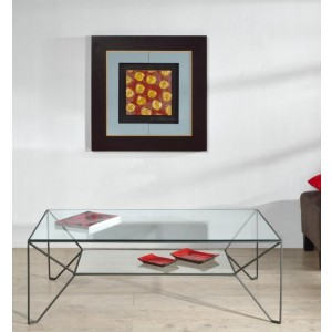 Table basse Prado noir satiné 120x72