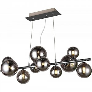 Suspension Villa 10x40W chromé noir
