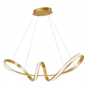 Suspension LED Monopoli 4370lm feuille d'or