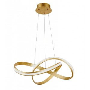 Suspension Monopoli Led feuille d'or 30W