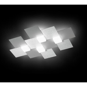 Applique/Plafonnier CREO 4 x LED - Aluminium