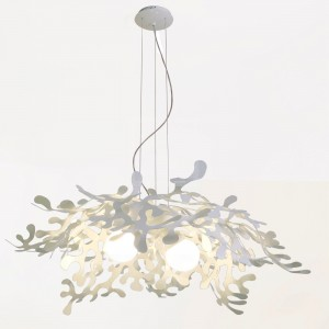 Suspension Midi Leaves Eco Blanc - Lumen Center