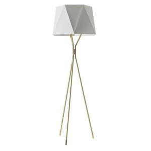 Lampadaire Solitaire laiton satiné - CVL Contract