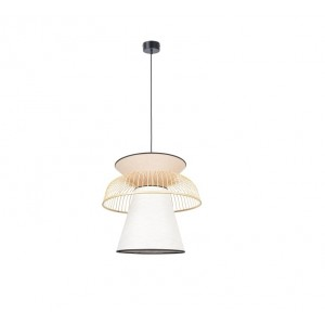 Suspension Mekko ABJ rose et blanc D.43