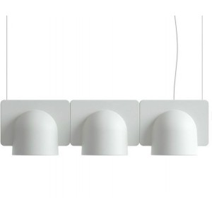 Suspension Igloo 3 Down - Fontana Arte - Gris clair