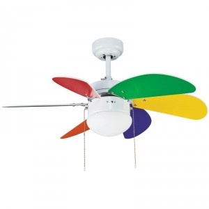 Ventilateur de plafond Tabit Multicolore