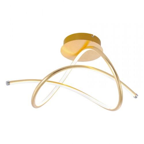 Plafonnier LED Ruban Feuille d'or