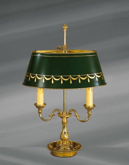 Lampe Bouillotte Louis XVI ABJ vert
