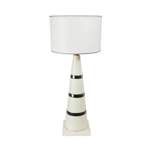 Lampe Bougeoir blanc platine