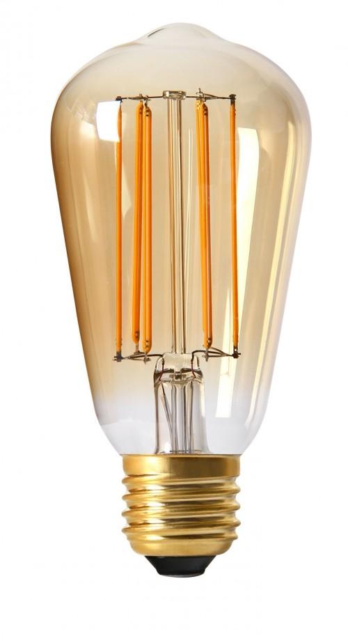 Ampoule LED Edisson filaments 4W ambrée