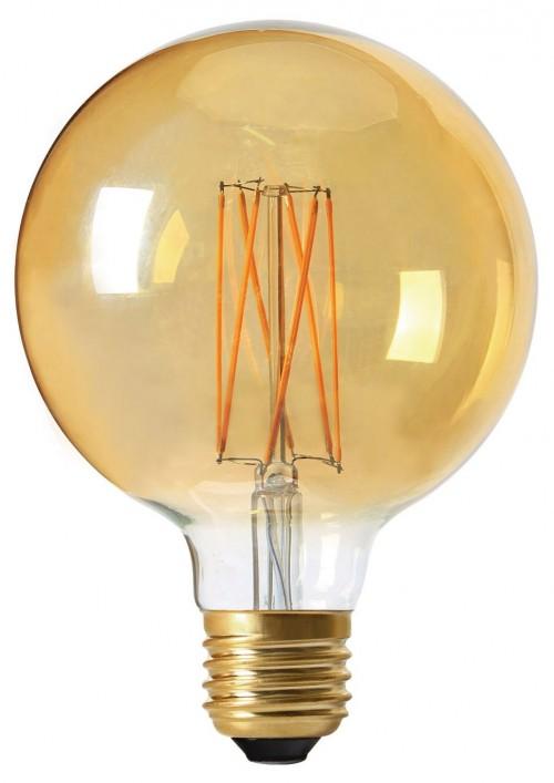 Ampoule LED globe filaments 4W E27 ambrée