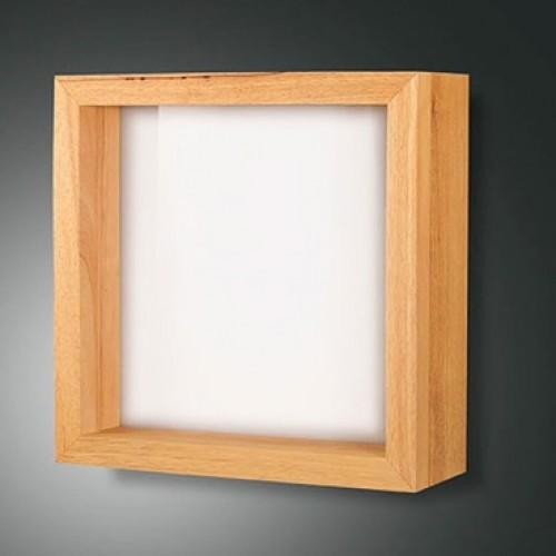 Applique Led Window carrée - Chêne