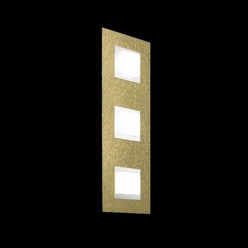 Applique/plafonnier Led Basic 3x520lm Laiton mat