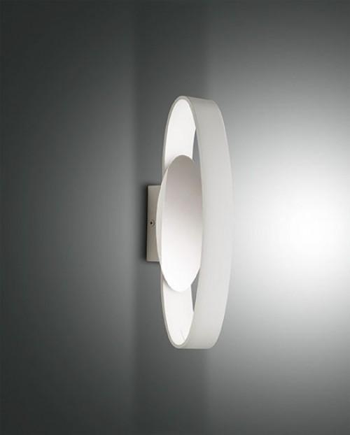 Applique murale LED Fabas Luce Gaby L.32 - Blanc