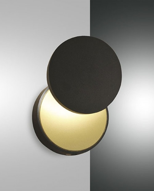 Applique murale Led Fabas Luce Ara - Noir
