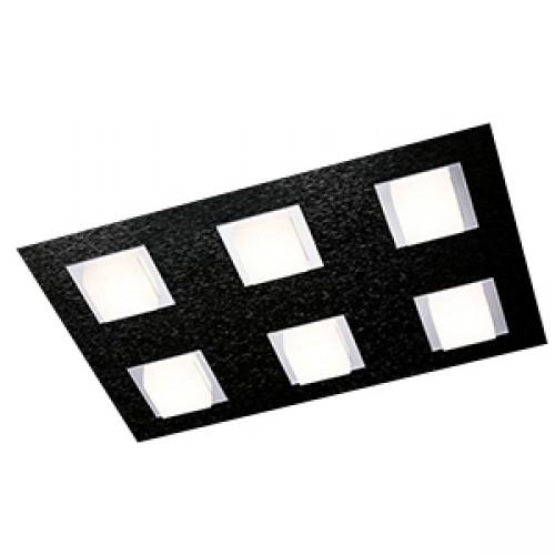 Plafonnier Led Basic 6x520lm Noir