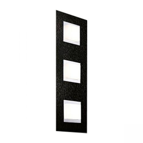 Applique/plafonnier Led Basic 3x520lm Noir