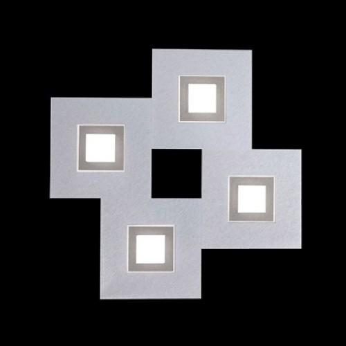 Applique / Plafonnier Karree 4 x Led - Aluminium Titan