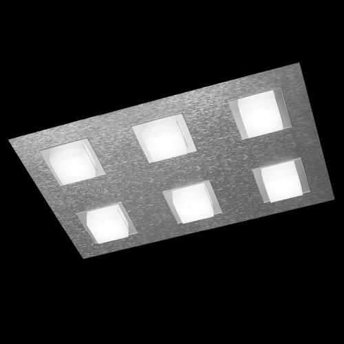 Plafonnier LED Basic 6x520lm Aluminium brossé