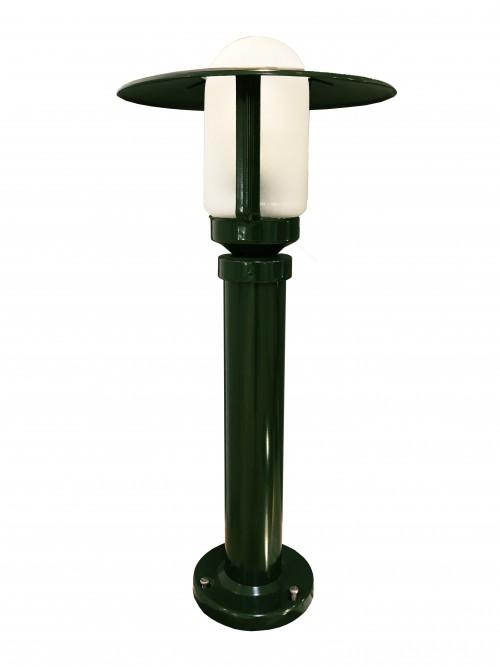 Borne Newpark H.57-Vert anglais-Verre clair