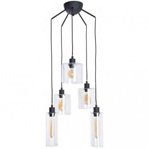 Suspension ILO-ILO 5x40W - Noir