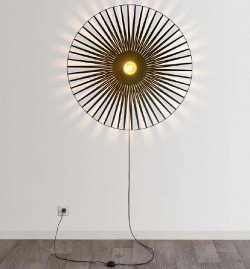 Applique Lisa Harpo - Noir - 1 lumière - D.40