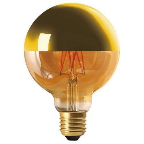 Ampoule LED filament 8W E27 (=69W) calotte dorée