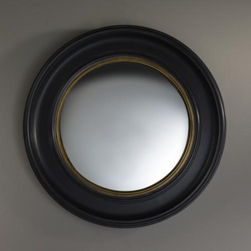 Miroir Convex noir et doré D.73