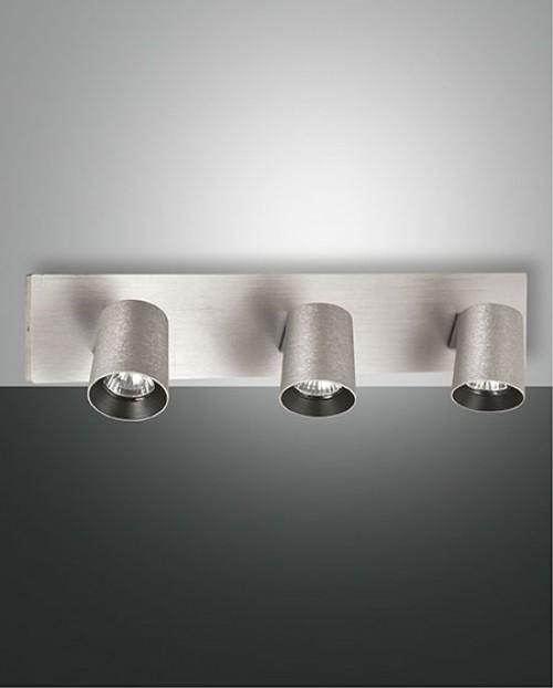 Réglette spots Modo 3xGU10 aluminium