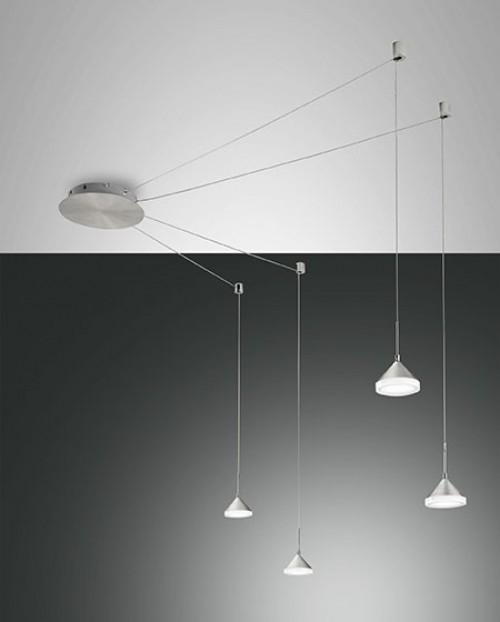 Suspension LED décentrée Isabella 32W Grise