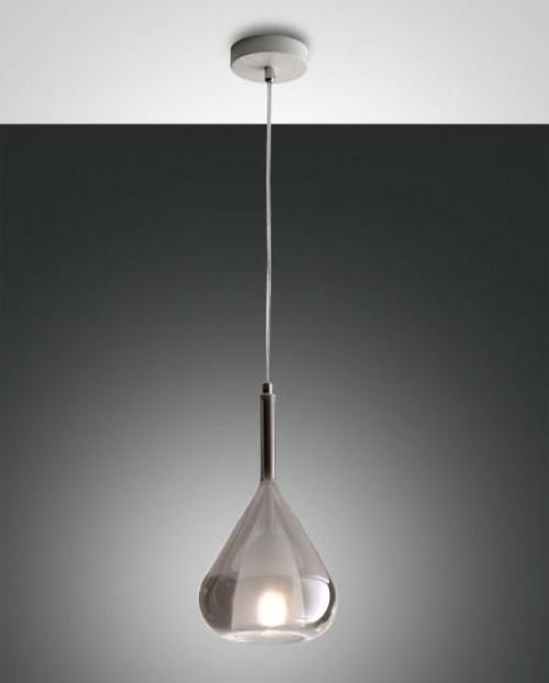 Suspension verre Lila grise