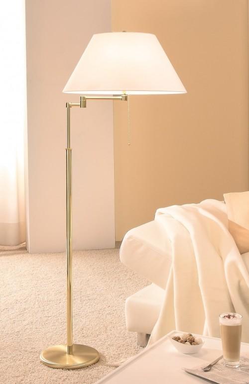 Lampadaire télescopique Charline - laiton mat - 2 lumières